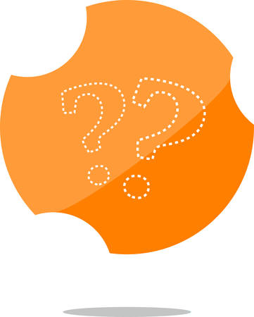 vector Stylish web button with question mark Illustration