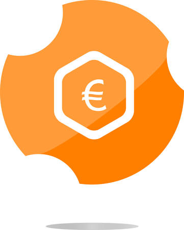 eur: web icon on cloud with euro eur money sign
