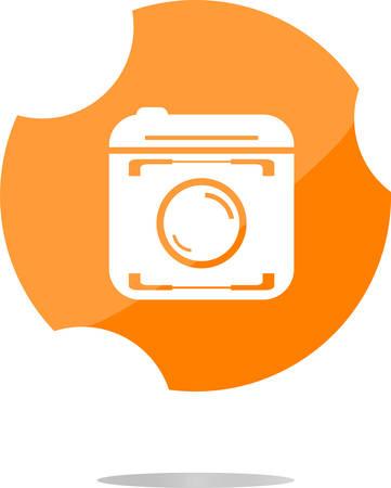 capturing: vector hipster photo icon. Camera icon. Photo camera pictogram