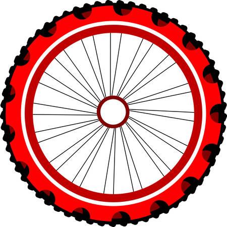 recreational pursuit: Bicycle wheel, vector