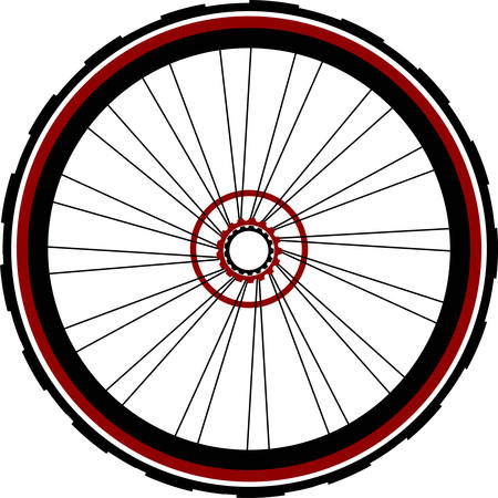 rear wheel: Single speed bicycle rear wheel Illustration