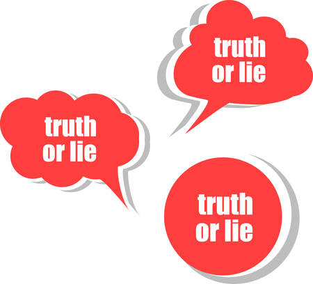 lie: truth or lie. Set of stickers, labels, tags. Template for infographics vector