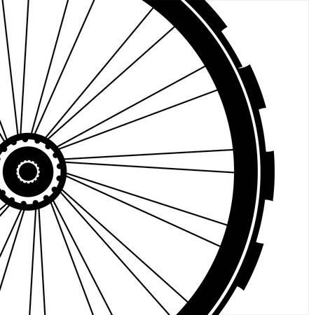 Rueda de la bici - ilustración vectorial sobre fondo blanco
