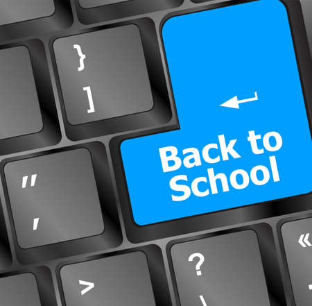 back training: Back to school, Education concept: computer keyboard, back to school