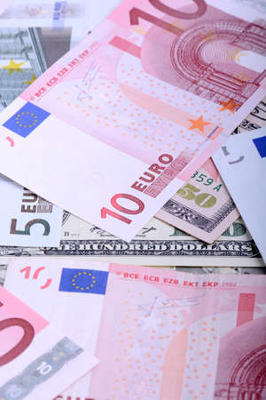 two us dollar: Two leading hard currencies - US Dollar and Euro Stock Photo