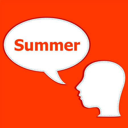 to think about: people think about summer, man and speech bubbles