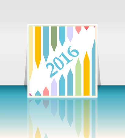 year increase: new year 2016 success concept with a growing arrows set Stock Photo
