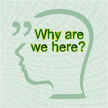 but think: why are we here. Inspirational motivational quote. Trendy design. Positive quote handwritten with watercolor brush calligraphy. typography design for cards, t-shirt, posters and social media content. Stock Photo