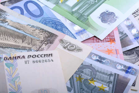 roubles: Dollars, euros, russian roubles - Money of the world