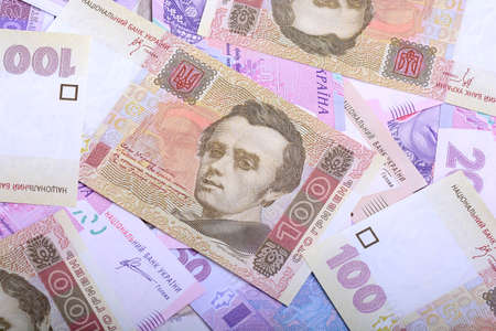 hryvna: Ukrainian money background