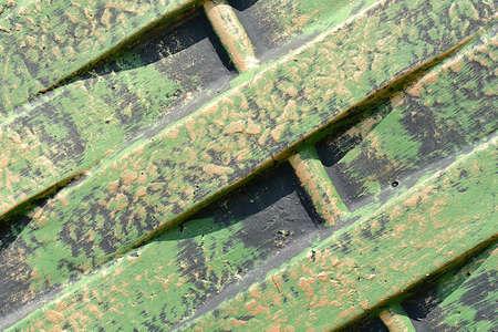 corrugated metal: Old rusty green corrugated metal wall