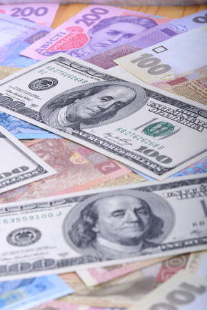 hryvna: Ukrainian hryvnia and the american dollars