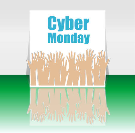 monday: Cyber Monday Sale template. Cyber monday sale concept. Vector illustration