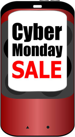 mega phone: Cyber monday sale. Big sale banner. Sale and discounts. Vector illustration Illustration