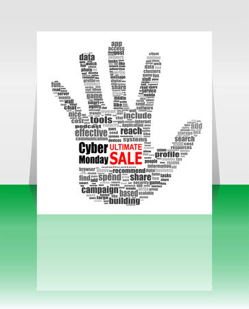 monday: Cyber Monday banner design. Cyber monday sale concept. Vector illustration