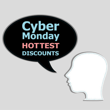 cyber girl: Cyber Monday banner design. Cyber monday sale concept. Vector illustration