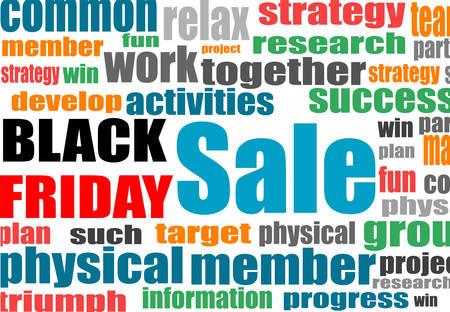 keywords background: Black friday. Background with social network keywords. Vector illustration. Illustration