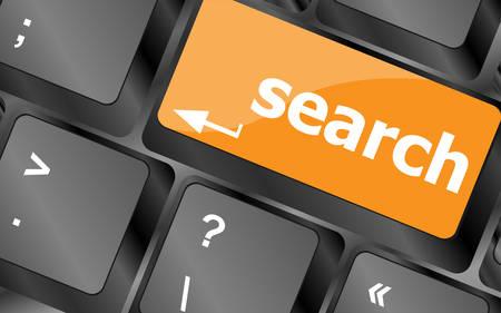 internet search engine key showing information hunt concept, illustration