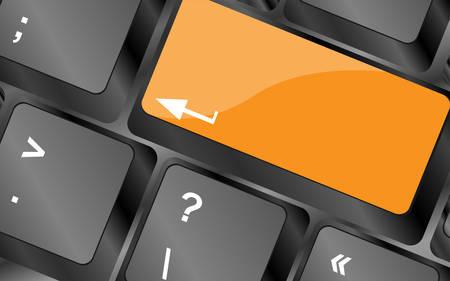 empty keyboard keys enter button, vector illustration
