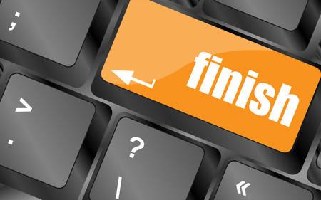 escape key: finish button on black internet computer keyboard, vector illustration