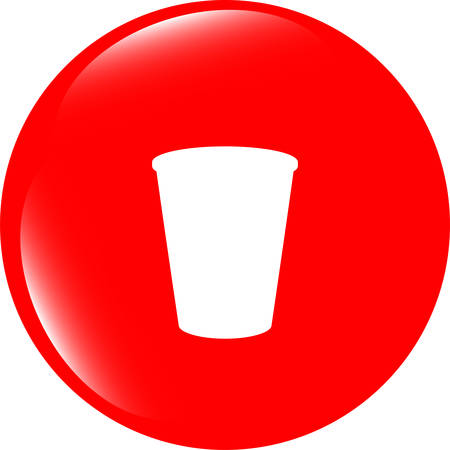 coffee cup icon: vector Coffee cup icon web button