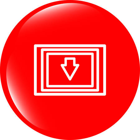 dir: Download web button with arrow and folder vector illustration Illustration