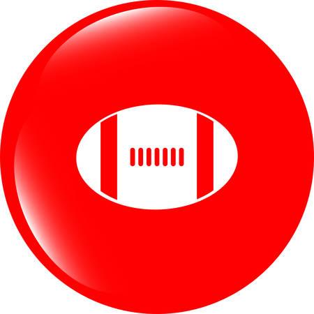 nfl football: Football ball icon web button vector illustration