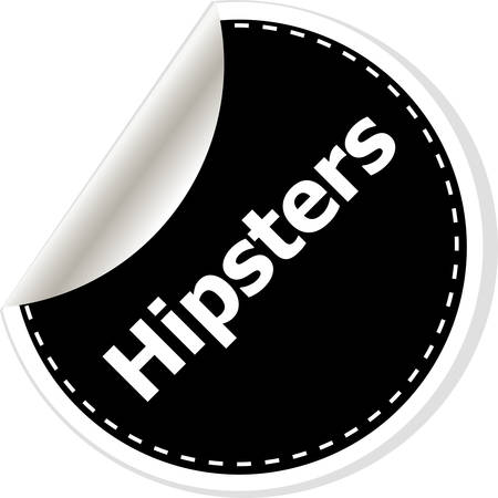 notification: hipsters black and white button, like counter notification icon, vector illustration