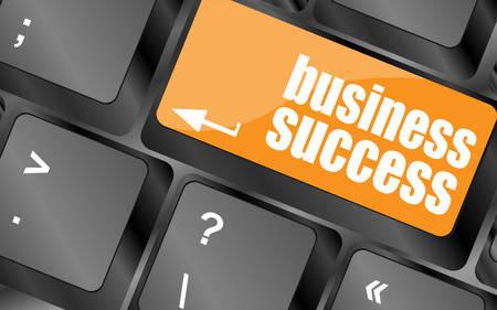 keyboard key: business success button on computer keyboard key, vector illustration
