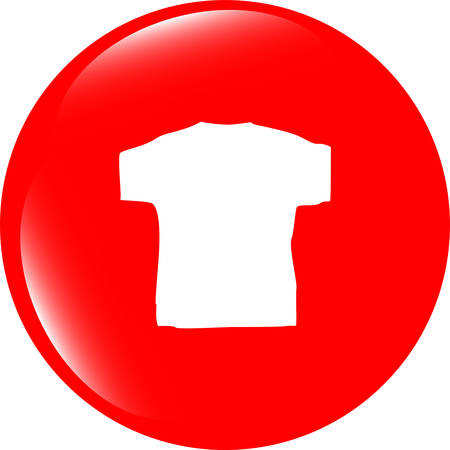 polyester: vector Clothes for women or man. T-shirt icon isolated Illustration