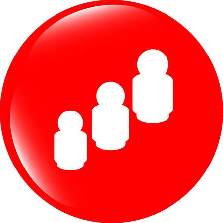 chrome man: vector business man silhouette icon web app button