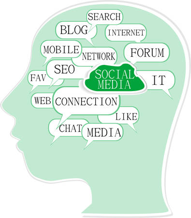 bookmarking: Word cloud, tag cloud text business concept.