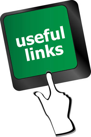 useful: useful links keyboard button - business concept Illustration