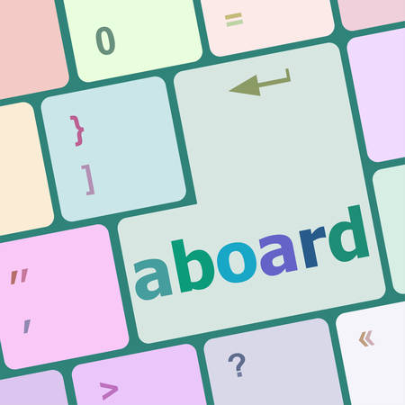 aboard: aboard key on the computer keyboard vector illustration