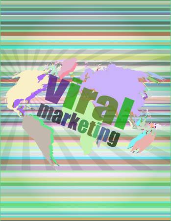 brand activity: Marketing concept: words Customer loyalty on business digital screen vector illustration