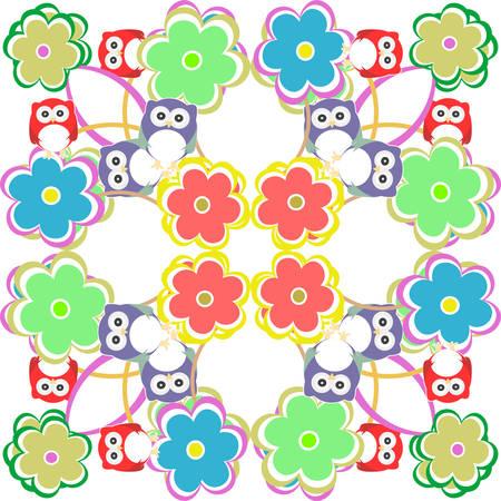 patten: Cute seamless owl background patten for kids in vector