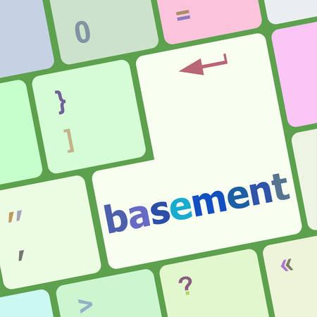 basement: basement message on enter key of keyboard vector illustration Illustration
