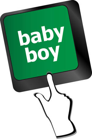 mail me: baby boy message on keyboard enter key