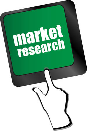 teleworker: key with market research text on laptop keyboard, business concept