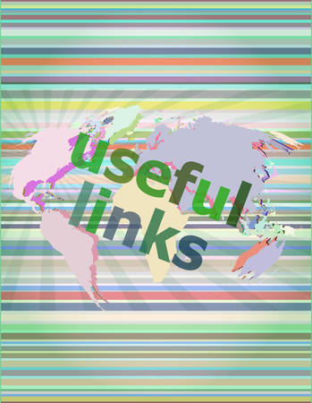 useful: SEO web design concept: useful links on digital background vector illustration