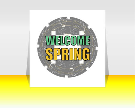 rejuvenation: Welcome Spring Holiday Card. Welcome Spring Vector. Welcome Spring background. Spring Holiday Graphic. Welcome Spring Art. Spring Holiday Drawing
