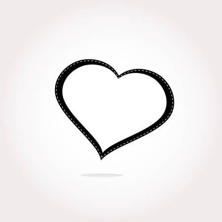 Corazón del vector del icono. Icono de fondo del corazón. botón del icono del corazón. Vacaciones icono del corazón. Corazón del icono gráfico. Icono del arte del corazón. Dibujo del icono del corazón