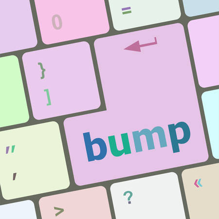 bump: Computer keyboard with bump key. business concept vector illustration Illustration