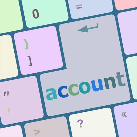 enter key: white account enter key vector illustration Illustration