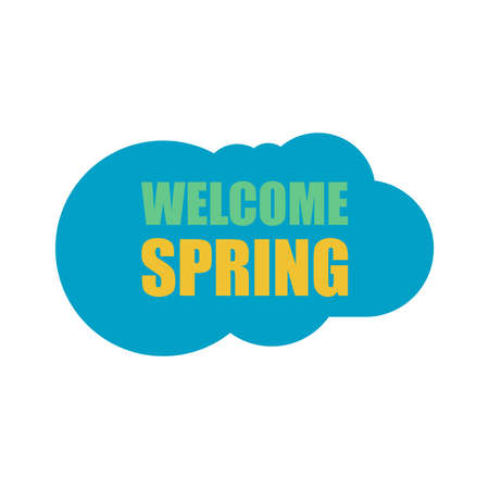 spring green: Welcome Spring Holiday Card. Welcome Spring Vector. Welcome Spring background. Spring Holiday Graphic. Welcome Spring Art. Spring Holiday Drawing