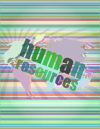 account executive: Management concept: human resources words on digital screen vector illustration