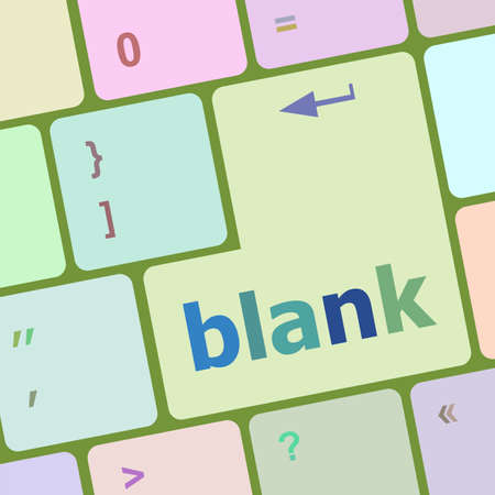 blank button: blank button on computer pc keyboard key vector illustration