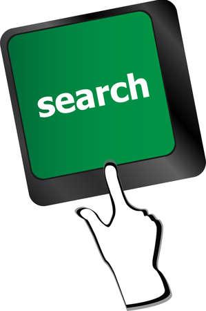 internet search engine key showing information hunt concept vector illustration