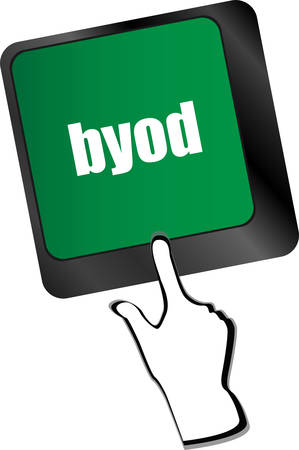 lighting button: Byod keyboard key of a notebook computer vector illustration