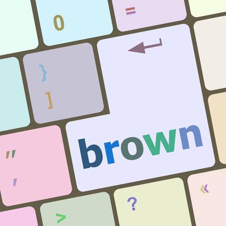 keyboard key: brown word on keyboard key vector illustration Illustration